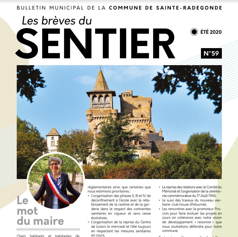 Les brèves du Sentier n°59 - Eté 2020
