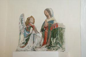 Statue de l'annonciation, église d'Inières