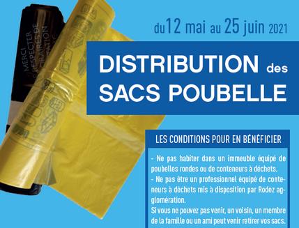 Distribution des sacs poubelle